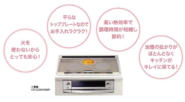 仙台市野田電気のIHクッキングヒーター